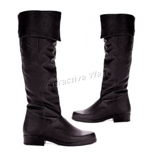 125-Zola Ellie Shoes, 1 inch heels Leather  Knee High Boots