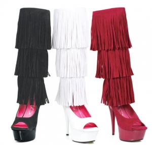 609-Hopi Ellie Shoes, 6 Inch Stiletto High Heels Knee High Boots.