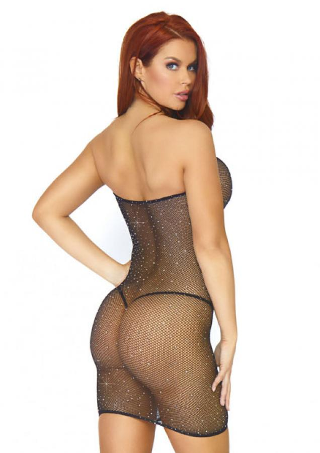 86797 Leg Avenue Rhinestone fishnet dress