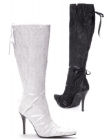 409-Chantil Ellie Shoes, 4 inch heels whit Lace and zipper  Knee