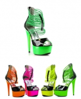 609-Adore Ellie Shoes, 6 Inch Pointed Neon Stiletto Platform Shoes