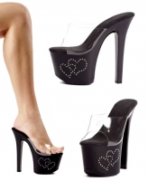 711-Heart Ellie Shoes, 7 inch pointed Stiletto high heels