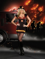 7604 Dreamgirl Costume, Light My Fire Stretch knit dress with underwi