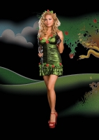 6409X Dreamgirl Costumes, Garden of Eve, Metallic microfiber shirred