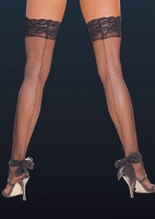 7028X Dreamgirl Stockings, Fishnet thigh high with back seam and stay