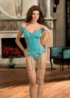 6226 Dreamgirl corsets, Stretch mesh and stretch lace corset with seq