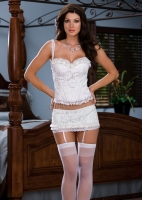 6277 Dreamgirl corsets, Lace over satin corset with hidden underwire