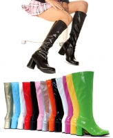 Gogo Ellie Boots, 3 inch Chunky heels zipper  Knee High Boots