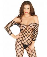 89195 Leg Avenue, Ring net off the shoulder bodystocking.