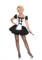 83624 Leg Avenue Costume, Mistress Maid, features tutu apron dress wi