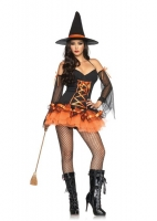 83632 Leg Avenue Costume, Hocus Pocus Hottie, includes ribbon trimmed