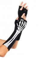 2144 Leg Avenue Gloves,  Woven skeleton fingerless gloves