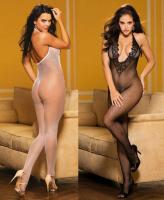 90417 Shirley fishnet lace body stocking