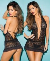 96659 Shirley Stretch lace gartered chemise